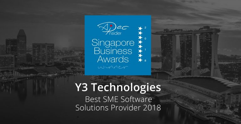 Y3 Technologies Wins Coveted APAC Business Award